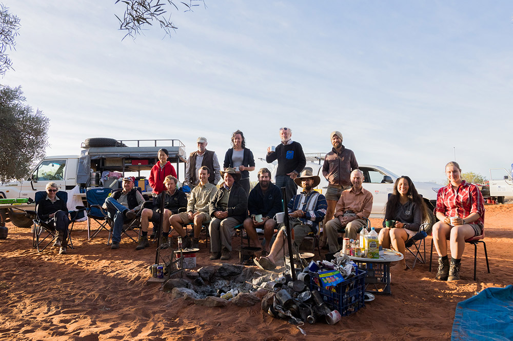 The Crew including the Ausplots team. Photo: David Nelson