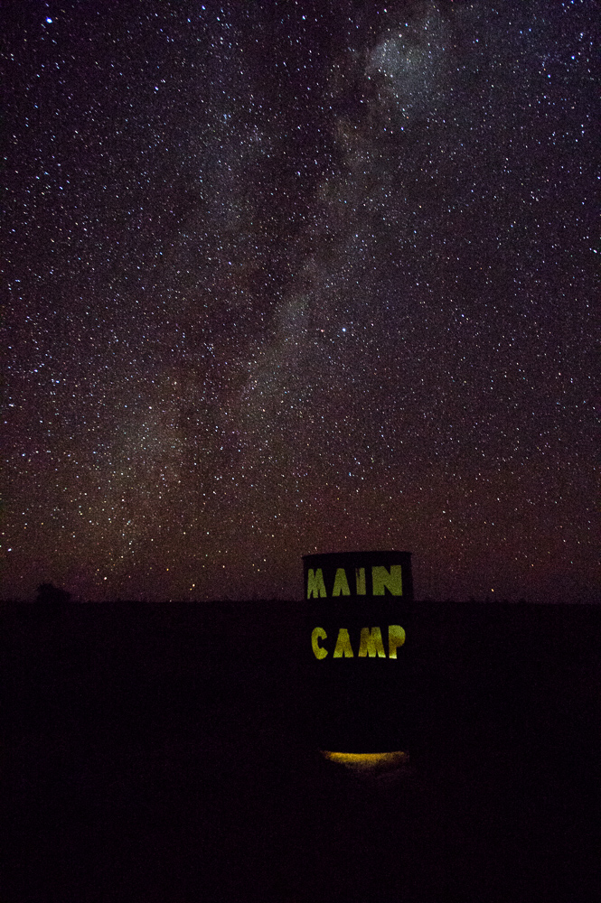 Milky Way and Main Camp Drum. Photo: David Nelson