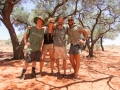 The crew - Steve, Eveline, Shaun and Dave. Photo: David Nelson