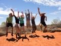 The team: Nik, Shankie, Pip, Eveline, Jess and Dave. Photo: David Nelson